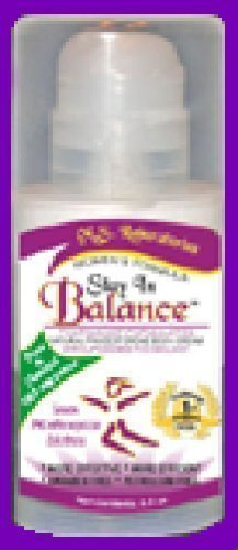 Natural Progesterone 3 Oz Pump - Stay In Balance2-Natural Progesterone Body Cream, Maximum Strength Menopause Solution-985mg per-oz. 3-oz. pump