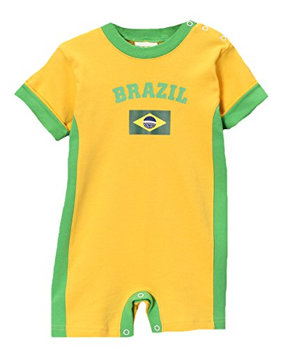 PAM GM Brazil Soccer Baby Romper