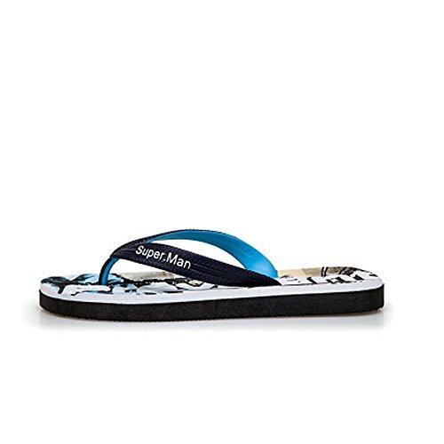 impermeabili cm Sandalo uomo 27 5 e uomoCasual pelle da Melodycp da da estivi in antiscivolo Pantaloncini 25 Sandali spiaggia Blu uomo da WHRYwUq7FU