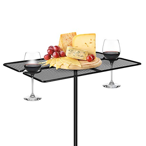 Sorbus Picnic Wine Table Stake, Portable Foldable Picnic Table, Great Drink Holder Stakes for Park, Backyard, Beach Tables for ()