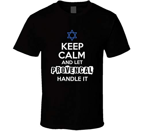 - yeoldeshirtshop Keep Calm and Let Provencal Handle It Hebrew Jewish Name T Shirt M Black