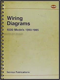 1980-1985 4000 and audi coupe wiring diagram manual original: audi:  amazon.com: books  amazon.com