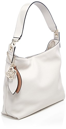 Guess Damen Bags Hobo Schultertasche, 9x30x43 centimeters Grau (Stone)