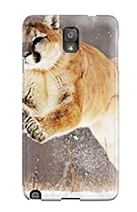 Galaxy Note 3 Hard Back With Bumper Silicone Gel Tpu Case Cover Mountain Lion
