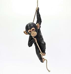 Deko Mono con–Cuerda de Algodón 56cm (v37643) Jardín Decoración Jardín Decoración