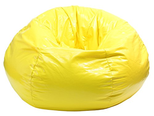 Gold Medal Bean Bags Wet Look Vinyl Bean Bag, XX-Large, Yellow (Large Vinyl Bean Bag)