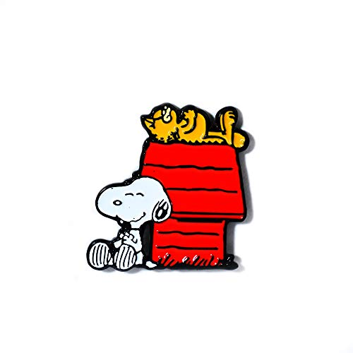 - Snoopy and Garfield Sleeping Red Dog House Collectible Pendant Lapel Hat Pin