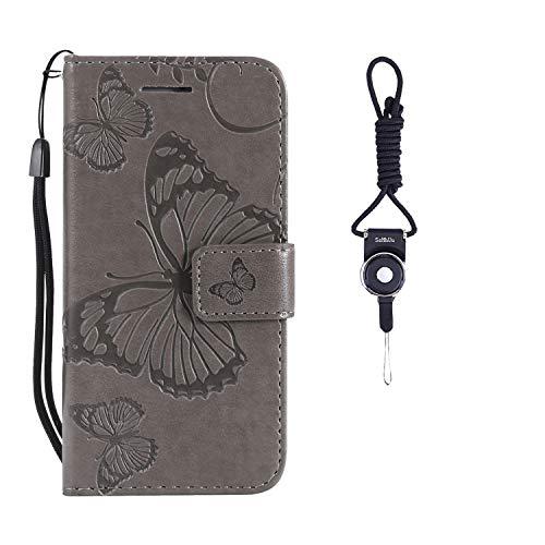 253acb278b Custodia Samsung Galaxy J5 Prime, SsHhUu Cover PU Portafoglio in Vera Pelle  [Carta Fessura