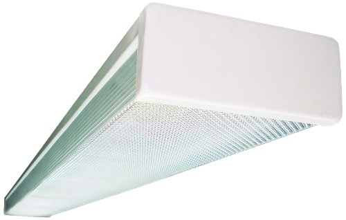 Fluorescent Light Around Wrap (NICOR Lighting 49-Inch 2-Lamp 32-Watt T8 Fluorescent Wraparound Light Fixture (10359EB))