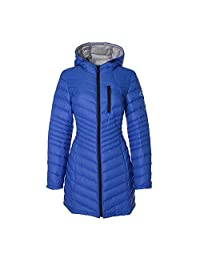Halifax HFX Maxwell Packable Quilted Design Hooded Coat Lapis Blue