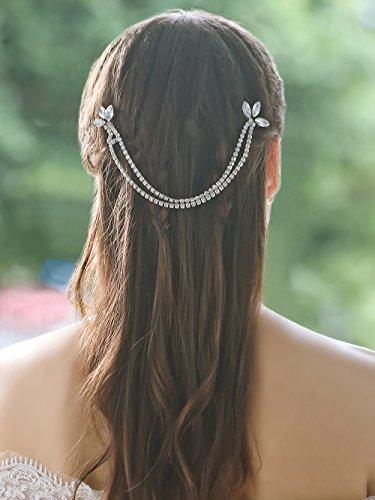 Yean Wedding Hair Pins Clips Rhinestones Bridal Boho Head Chain Accessories for Women Brides and Bridesmaids