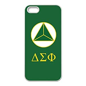 Cute TPU Delta Sigma Phi Symbol iPhone 4 4s Cell Phone Case White