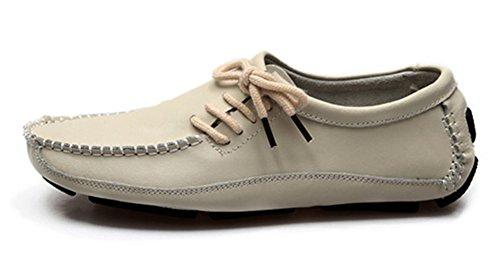 Aisun Mens Trendy Dress Leather Loafers Beige SScmO1z