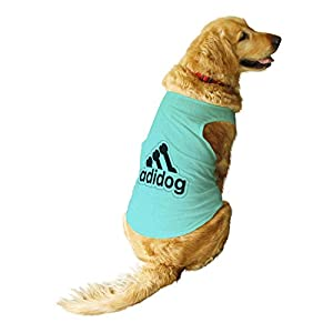 Ruse. Pet Adidog Printed Round Neck Sleeveless Vest Tank T-Shirt/Tees for Dog Clothes Summer Apparel.