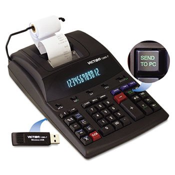 Victor - 1280-7 Two-Color Printing Calculator W/Usb Black/Red Print 4.6 Lines/Sec ''Product Category: Office Machines/Calculators & Counters'' by VICTR