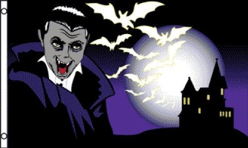 Halloween Vampire Flag 3x5ft Poly -