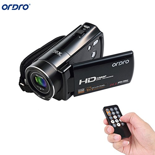 Video Camcorder, Lary intel Portable HD ORDRO HDV-V7 1080p IR Night Vision Max. 24.0 MP Digital Camera Camcorders DV 16× Digital Zoom 3.0 TFT LCD Rotation Touch Screen Video Recorder, - Sunglasses Photos Take That Video And