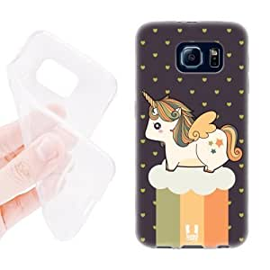 Head Case Designs Autumn Fancy Unicorns Chubby Collection Soft Gel Back Case Cover for Samsung Galaxy S6 G920, Galaxy S6 Duos