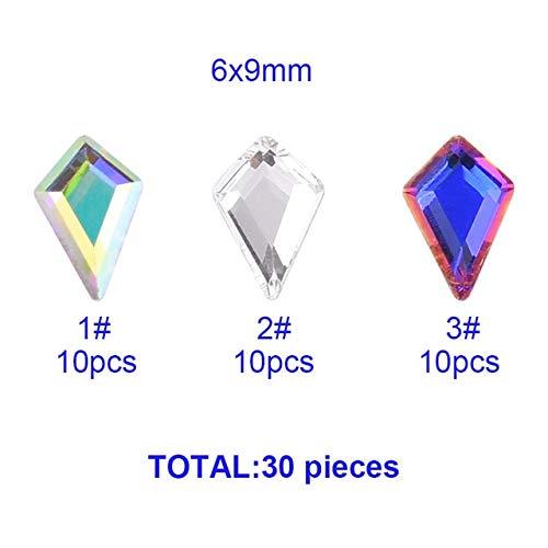 Nail Art Accessories - 10Pcs New Designs Nail Crystals Flat Back Nail Diamonds Gems Rhinestones For Nails Decoration - Nail Gems And Rhinestones Nail Rhinestones And Charms - Mix 30Pcs