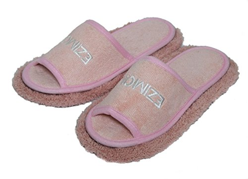 Friendly House Women's Chenille Microfiber Floor Cleaning Mop Slippers (Pink)