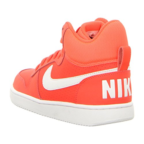 Nike Damen Court Borough Mid Basketballschuhe Rot (bright crimson/white)