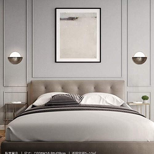ZYL-YL Postmodern Creative Hardware Living Room Art Bedside Bedroom Study Designer Model House Wall Lamp High Taste