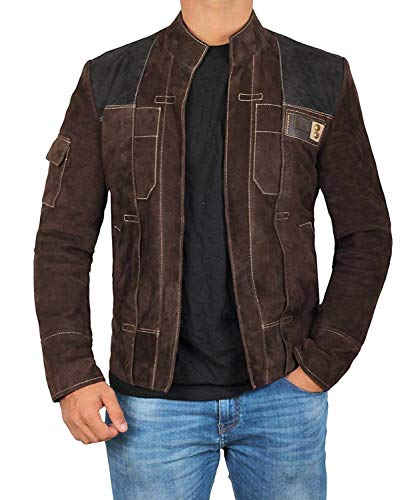 Solo A Star Story Leather Jacket - Mens Zipper Han Solo Brown Suede Jacket for Gifts | [1100733], HanSolo Suede Dark Brown M