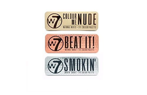W7 Colour Me Nude, Beat It Natural Nudes & Smokin' Shades Ey
