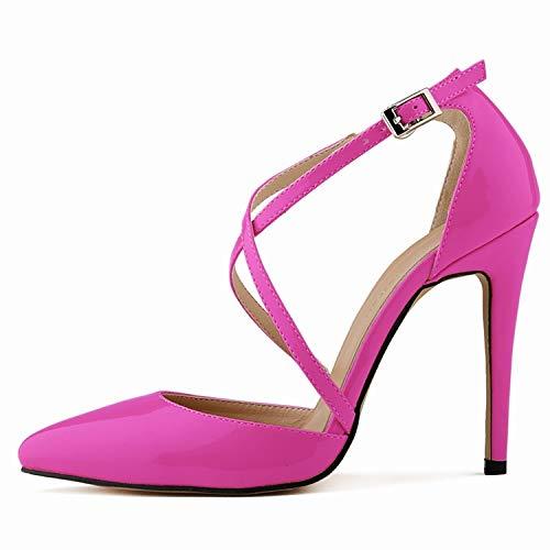 E 37 EU FLYRCX Mode Les Les dames Chaussures Simples tempéraHommest élégant Croix Sangle Talons Hauts
