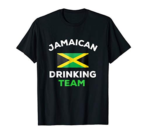 (Jamaican Drinking Team T-Shirt Funny Country Jamaica Flag )