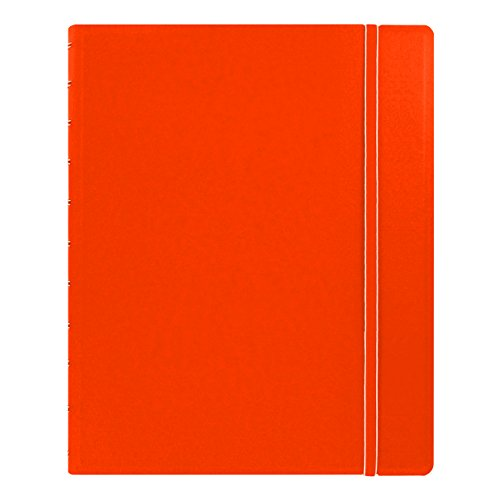"Filofax Letter Size Notebook, 10.875"" x 8.5"", 112 Ruled Pages, Orange (B115104U)"