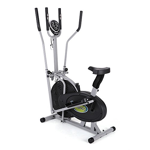 Electric Magnetic Elliptical Trainer 2 in 1 Bike Exercise Fitness Machine Upgrad by NOOOSHI