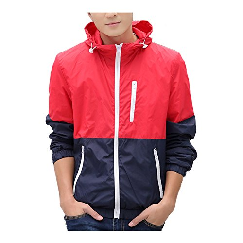 Zip Front Windbreaker - WOQN Men's Jackets Front-Zip Light Weight Windbreaker