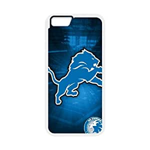 Detroit Lions Team Logo iPhone 6 Plus 5.5 Inch Cell Phone Case White 218y3-213576