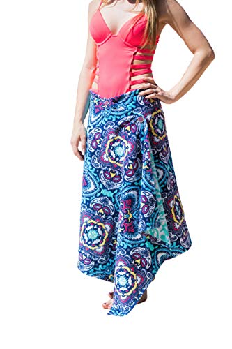 ccd7fc22f3 Simple Sarongs Women's Swimsuit Cover-Up & Beach Towel All-in-One One
