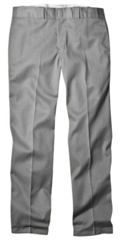 Dickies Men's Original 874 Work Pant, Silver, 38W x 32L