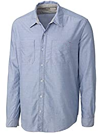 Cutter And Buck Men's Traditional Oxford Dress Shirt, Dive, X-Large
