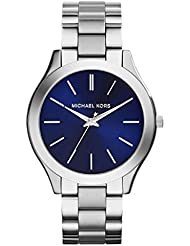 Michael Kors MK3379 Slim Runway Silver Stainless Steel Bracelet Watch 42mm Womens Watch