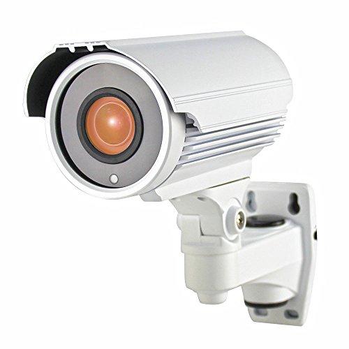 Honic 1080P HD (TVI / AHD / HD-CVI / 1200tvl) 2.8-12mm Varifocal Security Camera, 2MP Sony EXMOR Sensor Zoom CCTV Cameras, Outdoor IP66 Weatherproof Analog Camera for Home Surveillance (Metal, White)