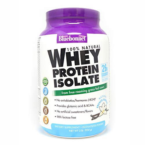 Bluebonnet Nutrition Whey Protein Isolate Powder, Vanilla Flavor, 2 Pound (Recombinant Protein 2)