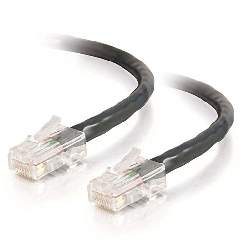 Network Crossover Patch Cable 14ft Cat5e Non-Booted Unshielded UTP Black