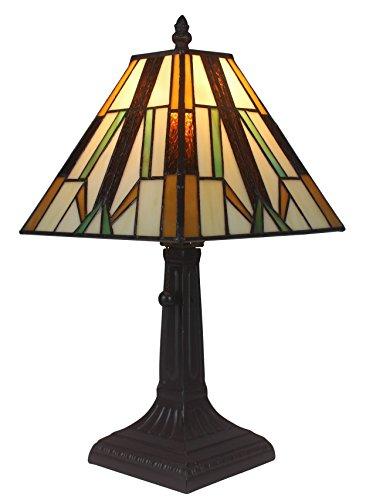 Amora Lighting AM100TL08 Tiffany Style Mission Table Lamp, 8