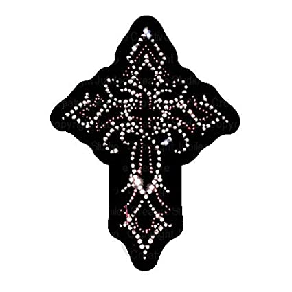 Image Unavailable. Image not available for. Color  Swirly Cross Iron On  Rhinestone Crystal Transfer by JCS Rhinestones c1da8248a19d