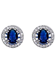 Richy-Glory - White Gold Filled Round Zircon Crystal Stud Earrings