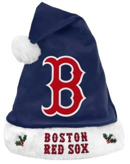 Forever Collectibles Boston Red Sox Santa Hat - 2012 Style Boston Red Sox Santa Hat
