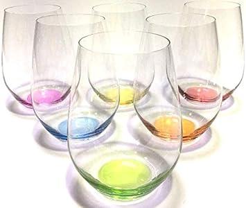 Prime Versand Design Trinkglas O Glas Weinglas Wasserglas 6er Set Gläser Für Rotwein Weißwein Wasser Saft Cocktails Tischlicht