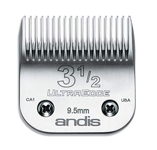 - Andis Carbon-Infused Steel UltraEdge Clipper Blade, Size-3-1/2, 3/8-Inch Cut Length (64089)