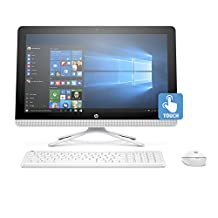 """HP V8P28AA#ABA 22-b032 21.5"""" FHD Touchscreen All-in-One Computer (Pentium J3710, 8GB RAM, 1TB HDD) with Windows 10 Home"""
