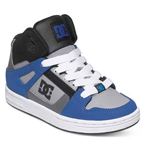 DC Rebound Skate Shoe (Little Kid/Big Kid), Blue/Black/Grey, 13 M US Little Kid