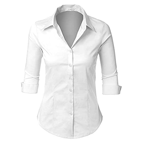 Shop for the Best Shirts & Blouses in Plus Size Fashion! classic, and timeless collared button up front shirt with button cuffs. My trendy and modern takes on such beloved designs will have you making a statement from work to play. Tops, Bell Sleeve Surplice Blouse White - Tops, Button Front Cap Sleeve Shirt White - Tops, Contrast Geo.